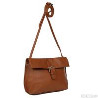 bbcdf87286e3 Женская сумка через плечо GALADAY из натуральной кожи, коричневая (GD7611)