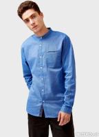 98850a5ec34 Рубашка с воротником-стойкой OSTIN