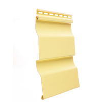 """Сайдинг Дёке (Döcke) """"Корабельная доска"""" (D4,5D) цвет Лимон (жёлтый)"""
